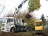 Camion con mini escavatore