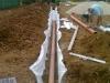 Realizzazione drenaggio su grande prato