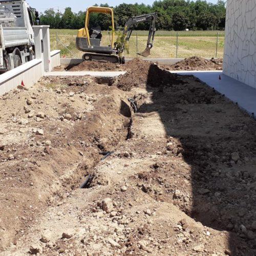 Scavi impianto irrigazione Vicenza