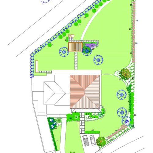 Progettazione giardini con rendering grafico