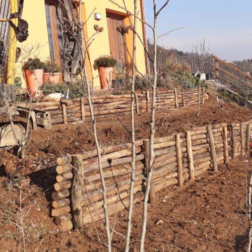 Realizzazione terrazzamenti con palizzata
